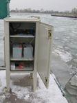 Water measurement post at the berth of Lotspost