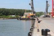 Berth No. 1 of cargo and passenger car ferry terminal