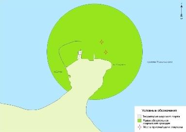 Схема границ акватории морского порта Мыс Лазарева