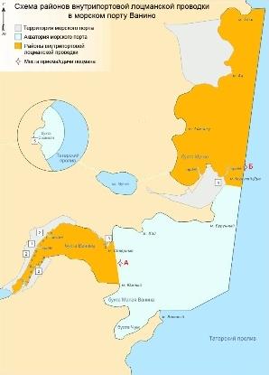 Схема районов внутрипортовой