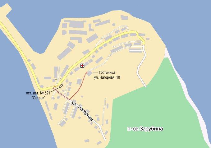Travel directions to hotel in Zarubino
